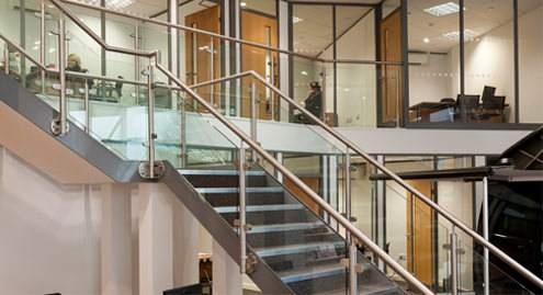 Mezzanine Edge Protection on staircase